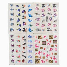 60 Sheets Mixed Styles Watermark Feather Cartoon Stickers Nail Art Water Transfer Tips Decals Beauty Temporary Tattoos Tools Cartoon Stickers, Nail Stickers, Cheap Stickers, Nail Art, Water Transfer, Mix Style, Temporary Tattoos, Feather, Tools