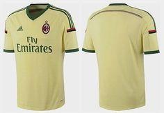 AC Milan Yellow/Green Fly Emirates adidas 3rd 2015 Mens Soccer Jersey