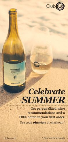 Wine Wine Wine !!! Enter For a Chance to Win 1 Year of Free Wine: visit www.clubw.com/pinwine #summer #wine #contest