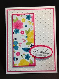 Wetlands Feminine Birthday Card Stampin' Up! Rubber Stamping Handmade Cards