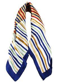 écharpe à rayure de mode -bleu