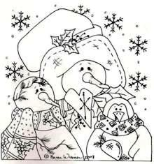 Awe Christmas Colors, Christmas Art, Handmade Christmas, Pintura Country, Tole Painting Patterns, Craft Patterns, Colouring Pics, Free Coloring Pages, Primitive Embroidery