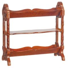 Wooden carved bookshelf in 1/12 scale miniature #ad #dollhouse Book And Magazine, Magazine Rack, Factory Direct Crafts, Miniature Quilts, Tiny World, Small Leaf, Dollhouse Miniatures, Dollhouse Interiors, Miniature Furniture
