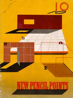 New Pencil Points Magazine - issue from 1943. 26.00, via Etsy.