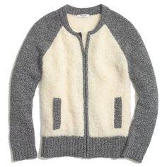 Madewell Bouclé Varsity Jacket