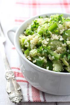 7 Shades of Green Spring Quinoa Salad