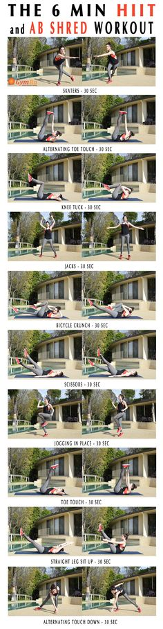 6 min HIIT & Ab Shred Workout. Doing ab workouts is not enough to develop a…