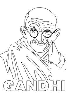 Gandhi. 30 de enero. Dia escolar de la Paz