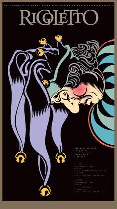 Vintage Rigoletto Opera Poster A3//A4 Print