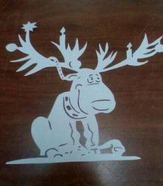 Christmas Moose, All Things Christmas, Christmas Humor, Christmas Projects, Diy And Crafts, Christmas Crafts, Christmas Decorations, Moose Silhouette, Christmas Shadow Boxes