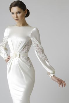 69 Ideas For Silk Dress Long Sleeve Beautiful Modest Wedding Dresses, Trendy Dresses, Elegant Dresses, Beautiful Dresses, Nice Dresses, Fashion Dresses, Prom Dresses, Dresses With Sleeves, Dress Sleeves