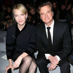 Cate Blanchett ✾ and Colin Firth