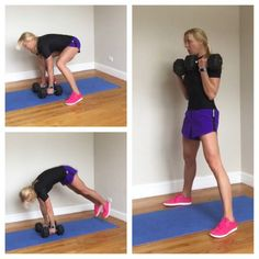 Grab a set of heavy-ish dumbbells for this total body, push-pull dumbbell workout.  The Workout Whenever I create a total body workout, I think about balance. I want movements to compliment one anothe