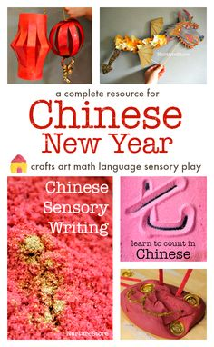 Two pretty ways to make easy Chinese lanterns: they're great Chinese New Year crafts for kids and a fun way to work on scissor skills.