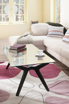 Furniture of America Enitial Lab Cara Rectangular Glass Top Coffee Table: Amazon.ca: Home & Kitchen