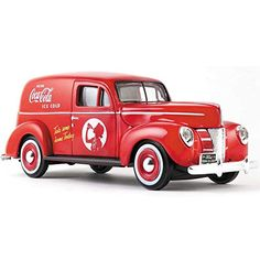 Diecast Car & Display Case Package - 1940 Ford Sedan Delivery Van, Coca-Cola - Motorcity Classics 424194 - Scale Diecast Model Toy Car w/Display Case Antique Trucks, Vintage Trucks, Antique Cars, Ford Classic Cars, Classic Trucks, Coca Cola, Van Design, Custom Trucks, Coke