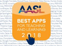 The 2018 Best Apps for Teaching & Learning are of exceptional value to inquiry-based teaching and learning. Apps recognized foster the qualities of innovation, creativity, active participation, and collaboration and are user friendly to encourage a community of learners to explore and discover.