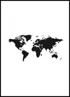 World Map 2 Poster Timeless poster of a black and white world map. This is one of our most popular posters and we understand why! Decorate your home with a beautiful world map. Poster Mural, Window Poster, Poster Wall, Poster Prints, New York Poster, Paris Poster, Collage Mural, Photo Wall Collage, Desenio Posters