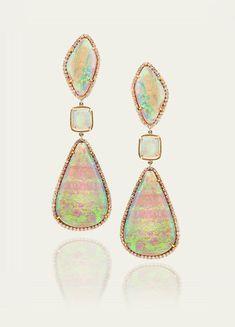 Tamsen Z-White Crystal Opal Earrings