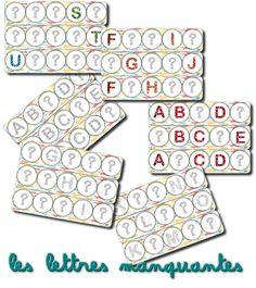 La maternelle de Laurène: Alphabet à compléter / reconstituer HEMA