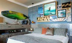 almasurf.com Os quartos do sonho de qualquer surfista na Casa Surf Suites, em Laguna Beach