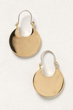 Anthropologie - Pressed Crescent Earrings