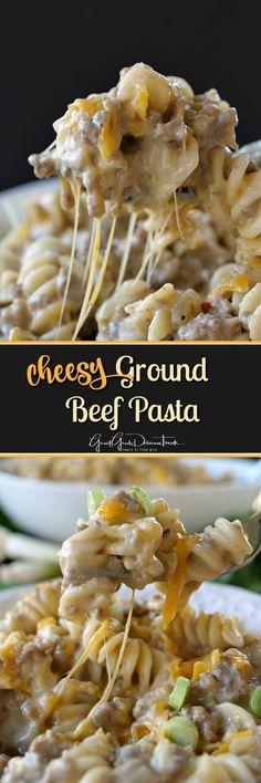 Cheesy Ground Beef Pasta ideas with ground beef main dishes Cheesy Ground Beef Pasta - Great Grub, Delicious Treats Beef Dishes, Pasta Dishes, Food Dishes, Main Dishes, Pasta Soup, Shrimp Pasta, Pasta Bake, Rice Dishes, Easy Main Dish Recipes
