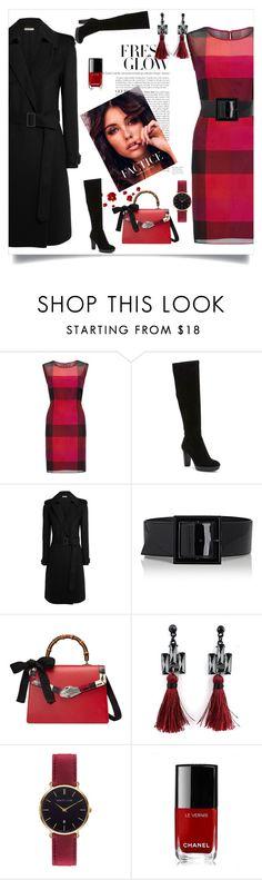 """In red"" by samra-dzabija ❤ liked on Polyvore featuring Gina Bacconi, Donald J Pliner, Bottega Veneta, Yves Saint Laurent, Gucci, Abbott Lyon and Chanel"