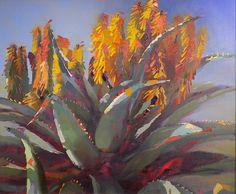 Hello Aloe (Framed) Oil on Canvas 70 x R Art Flowers, Flower Art, Project Ideas, Art Projects, Flower Paintings, Cacti And Succulents, Art Oil, Acrylics, Oil On Canvas