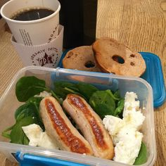 Post @kobox second breakfast #tupplife   I've got two @musclefooduk chicken sausages and @musclefooduk liquid egg whites cooked in @lucybeecoconut on a bed of fresh spinach with another toasted cinnamon raisin bagel thin (can you see I become easily obsessed with my carb sources ) and a black coffee  Perfect lower carb day refuel meal packed with the all important PWO protein and a little carb  Macros: P/41g C/32f F/2.6g How are you all kicking off your days? Don't forget to use my code…