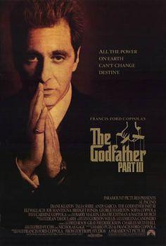 El padrino, parte III es la tercera película de la trilogía de El Padrino, completando la historia de Michael Corleone, un padrino de la mafia que trata de legitimar su imperio criminal.