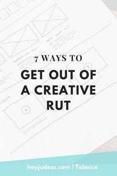 creative rut   creative slump   how to be creative   editorial calendar
