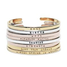 GK Designs Cuff Bracelets are the perfect gift to inspire, encourage, or show someone special you are thinking about them.