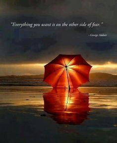 Everythung you want is on tge ither side of fear :)