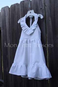 Baby White Linen Maxi Dress - Size 6 months to 18 months - Flower Girl Dress-Beach Wedding Dress-Family Beach Photo Dress on Etsy, $60.00