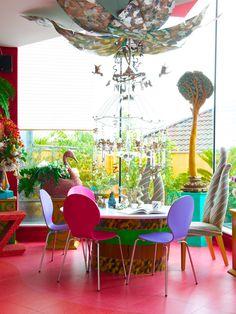 Zandra Rhodes' home, Photography Ingrid Rasmussen & Styling by Emily Wheeler