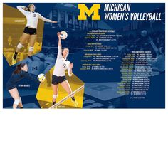 Get pumped for a great seasons with Michigan Women's Volleyball!