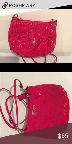 Coach purse Barely used patent red Coach purse. Dimensions approx 8 in x 6.5 in Coach Bags