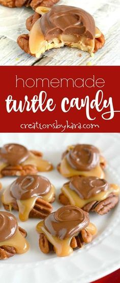 Recipe for the best caramel pecan turtle candy ever! So easy and so yummy! Recipe for the best caramel pecan turtle candy ever! So easy and so yummy! Everyone loves these chocolate covered caramel pecan clusters! Pecan Recipes, Caramel Recipes, Candy Recipes, Sweet Recipes, Dessert Recipes, Dessert Bars, Cheesecake Recipes, Vegan Caramel, Caramel Bars