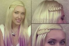 Bohemian hairstyles with a knotted braid from hair tutorial http://www.youtube.com/watch?v=DjLras8Gc4I