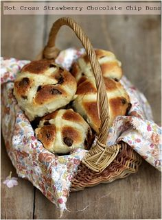 @Cara Cook and I are making these strawberry chocolate chip hot cross buns for Easter. Yes.
