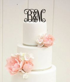 6 Sweethearts Custom Vine Monogram Wedding Cake by ThePinkOwlGifts, $32.00