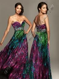peacock grad dress - Google Search