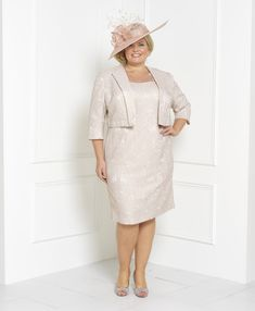 John Charles 26140 Gold Dress and Matching Jacket John Charles, Groom Outfit, Fall Collections, Gold Dress, Mother Of The Bride, Bride Groom, Beautiful Outfits, Wedding Day, Plus Size