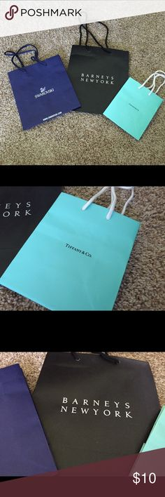 Designer shopping bags Designer shopping bags. Tiffany & Co. Bags