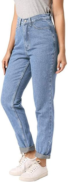 90s Vintage Pants   High Waisted, Jeans, Classic High Waist Jeans Vintage Sexy Boyfriend Jeans for Women $29.99 AT vintagedancer.com Blue Mom Jeans, Light Blue Jeans, High Waisted Mom Jeans, High Jeans, Costume Halloween, 80s Fashion, Denim Fashion, Fashion Women, Fashion Group