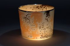 Peter Biddulph Translucent Southern Ice porcelain cup with shino glaze. Fired to 1300° Centigrade in reduction.