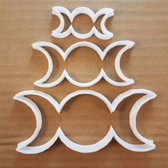 We can customise the length, width and cutting depth of all our cutters. Fondant, Moon Cookies, Wiccan Rituals, Triple Moon Goddess, Crescent Shape, Moon Cake, Moon Shapes, Shaped Cookie, Polymer Clay Projects