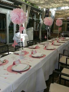 Diseño y decoración de eventos # sevilla # mesa comensales# arboles y mariposas# rosa Ballet, Art Party, Table Settings, Table Decorations, Birthday, Candy Bars, Babyshower, Party Ideas, Weddings