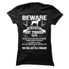 (Top Tshirt Discount) BEWARE IAM THAT RAT TERRIER LADY at Tshirt Best Selling Hoodies, Tee Shirts